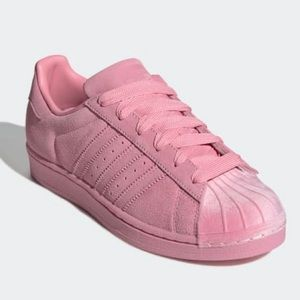 Adidas Superstar pink on pink 6